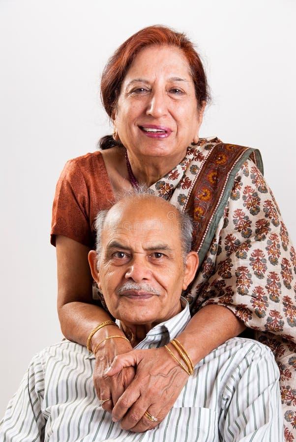 Senior Indian couple royalty free stock images