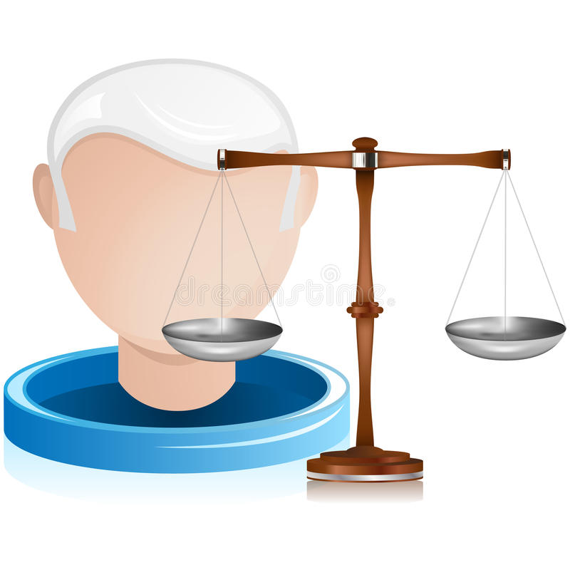 Download Senior Judge With Justice Balance Stock Vector - Image: 20909215