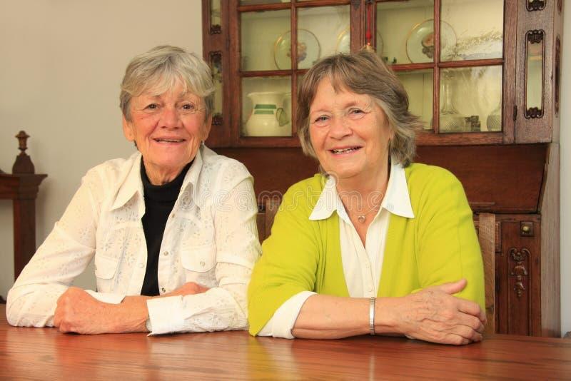 Senior ladies stock image