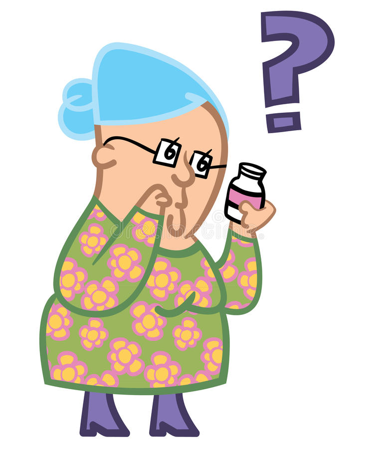 Download Senior lady confused stock vector. Illustration of expression - 13169092