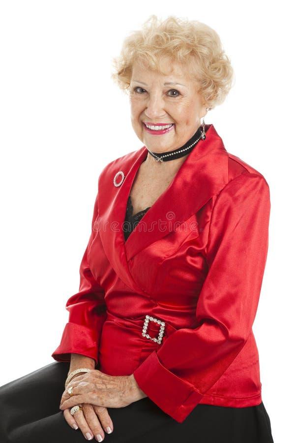Download Senior Lady Dressed For Holidays Stock Image - Image: 13047357