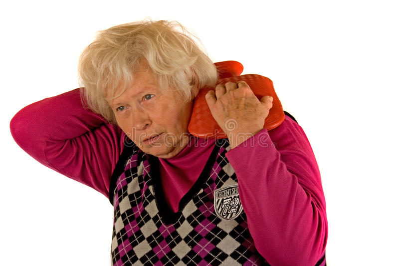 Download Senior Lady with Pain stock photo. Image of health, person - 17422880