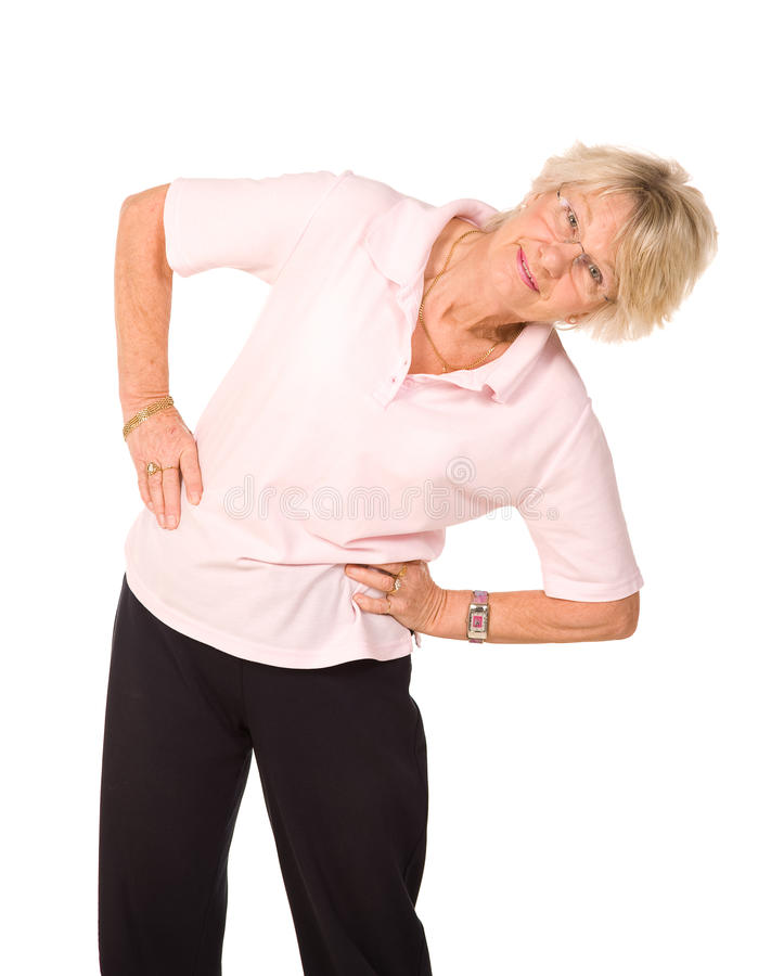 Senior Lady Stretching Before Exercise Stock Images