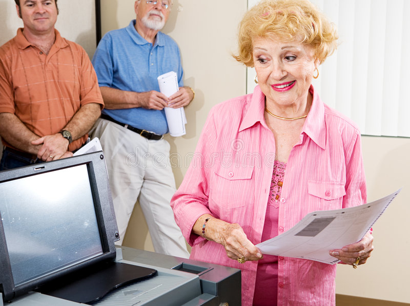 Senior Lady Voting stock photos