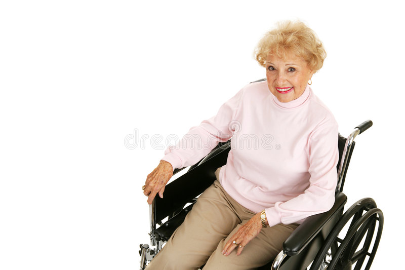 Download Senior Lady In Wheelchair Horizontal Stock Image - Image: 4196957