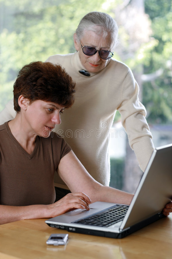 Download Senior Learning Computer Stock Photography - Image: 4574412