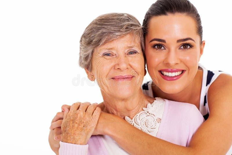 Senior macierzysta córka zdjęcia royalty free