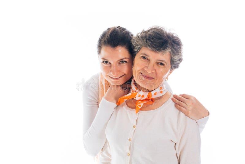Senior macierzysta i młoda córka zdjęcie royalty free