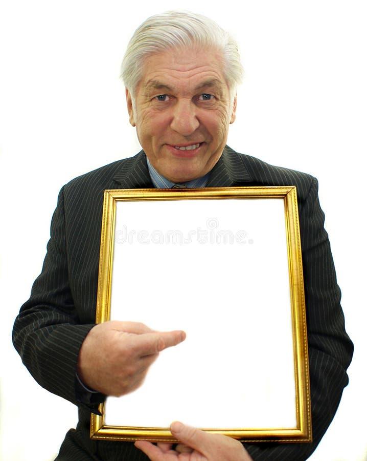 Senior male stock image