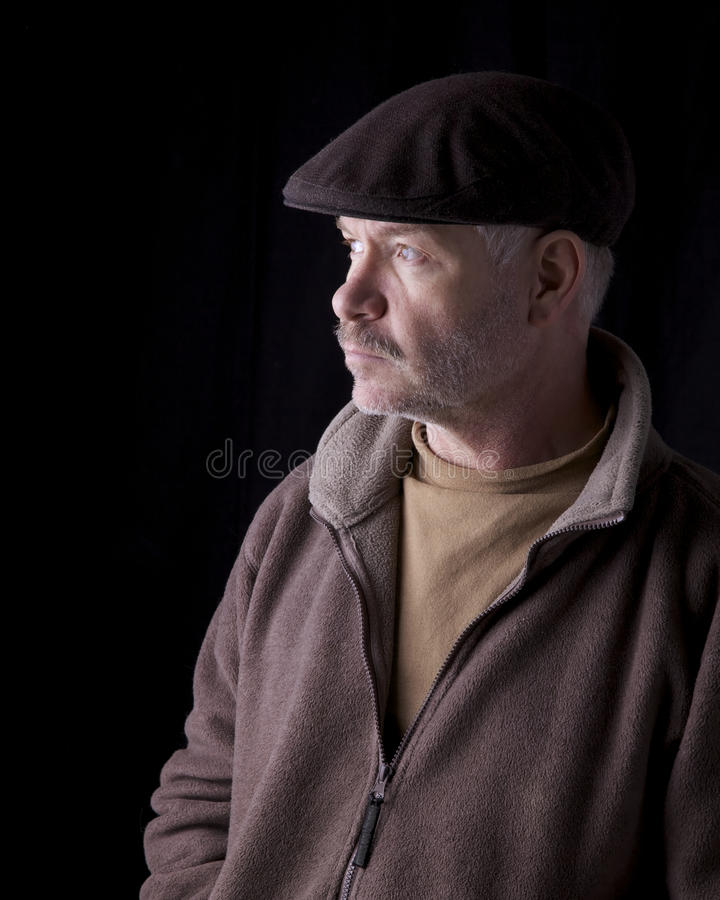 Senior male in casual masculine pose royalty free stock images