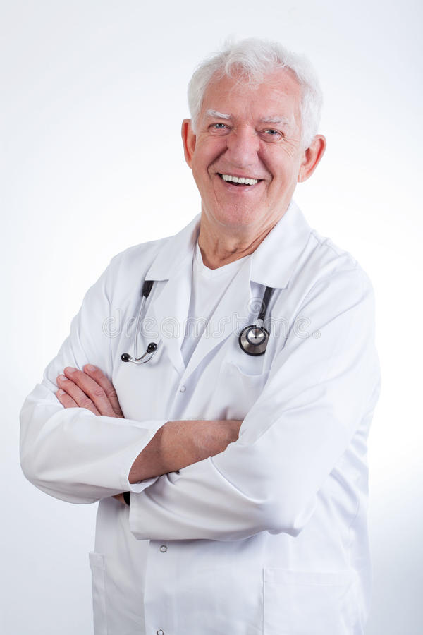 Senior male doctor stock image