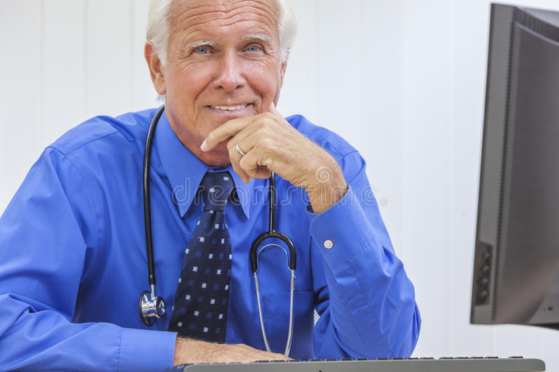 Download Senior Male Doctor With Stethoscope Stock Photo - Image: 28808650