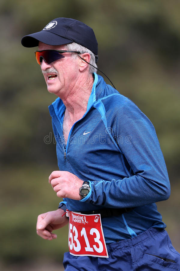 Senior Male Marathon Runner royalty free stock photos