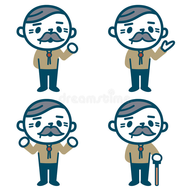 Senior male set stock illustration
