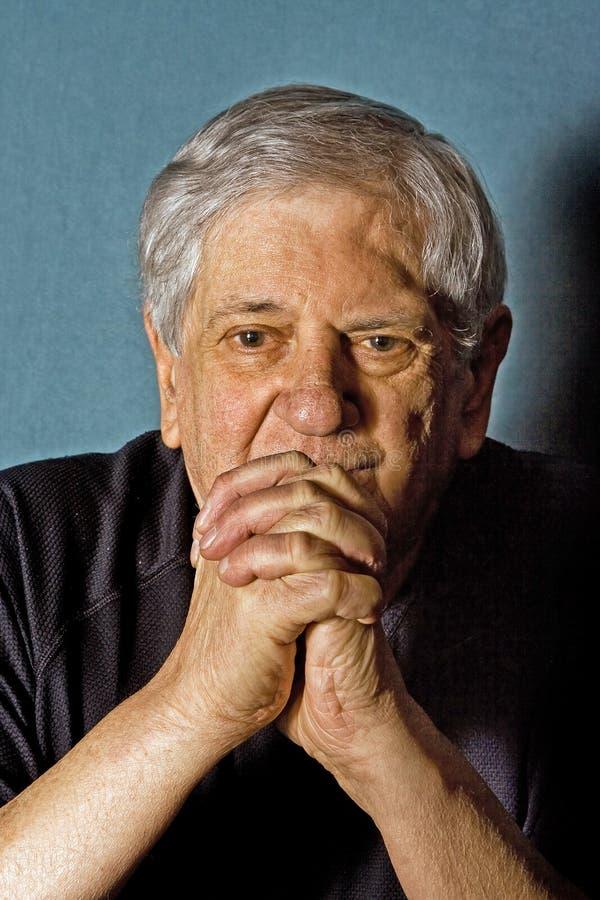 Download Senior man stock image. Image of gray, hand, older, chin - 4427501