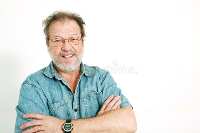 Download Senior man stock photo. Image of crossed, enjoy, love - 8058630