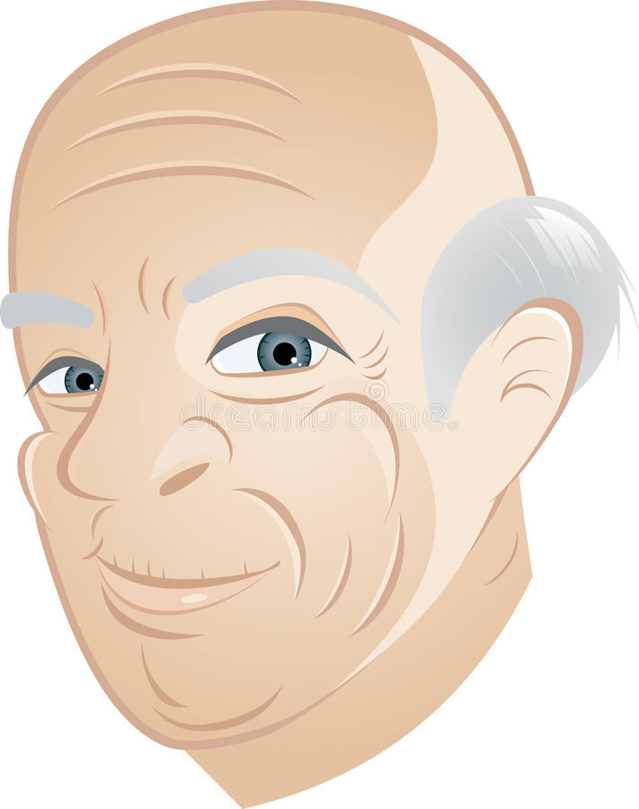 Download Senior man with bald head stock vector. Image of gray - 17965492