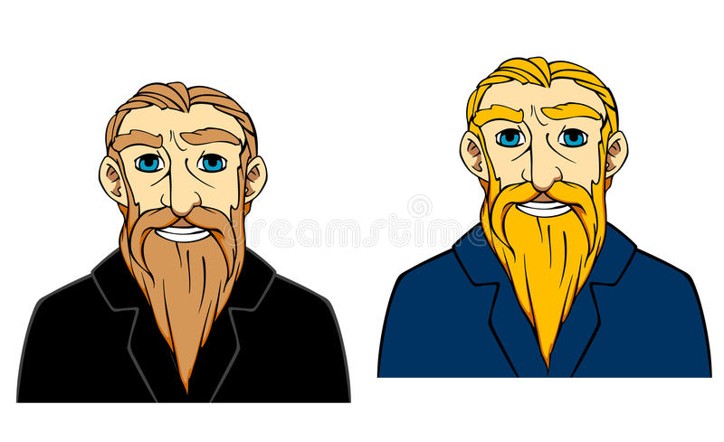 Download Senior man with beard stock vector. Illustration of confident - 30951956