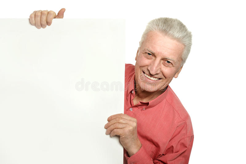 Senior man with blank stock images