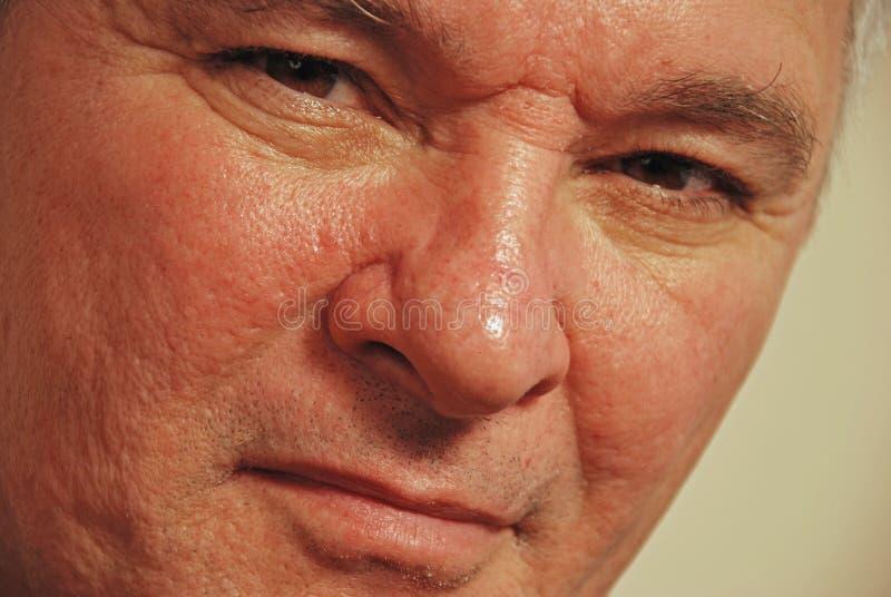 Download Senior Man With Brown Eyes Staring Stock Photo - Image: 4026684