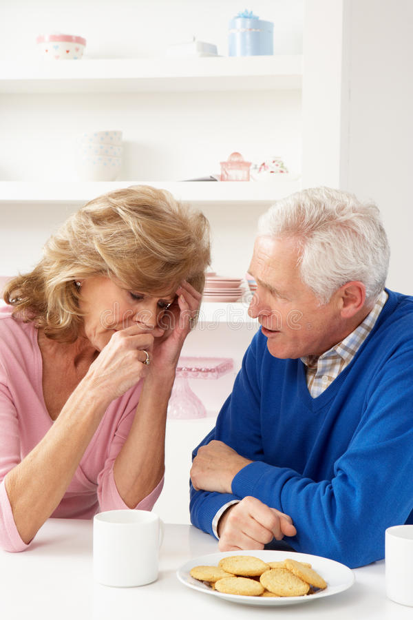 Download Senior Man Consoling Wife stock image. Image of wife - 18918735