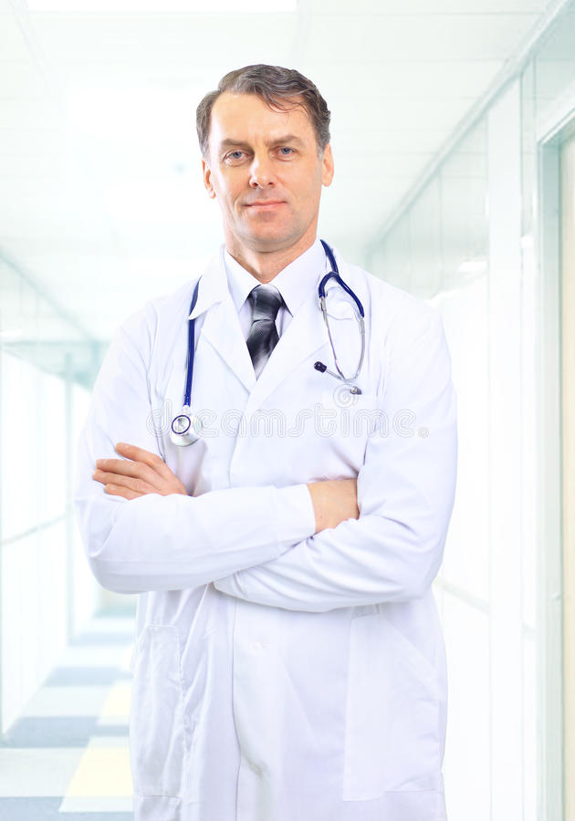 Senior man doctor stock photo