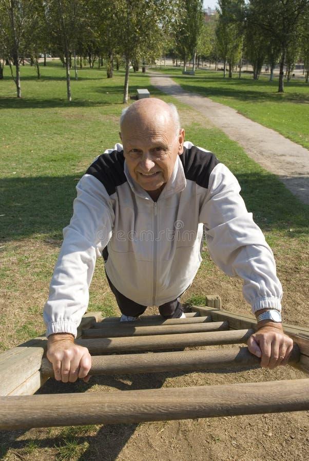 Senior Man Exercising Royalty Free Stock Photos