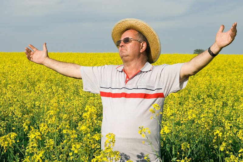 Download Senior man in a field of stock image. Image of farmer - 14316841