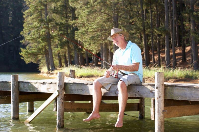 Senior man fishing stock photos image 21097373 for Senior fishing license