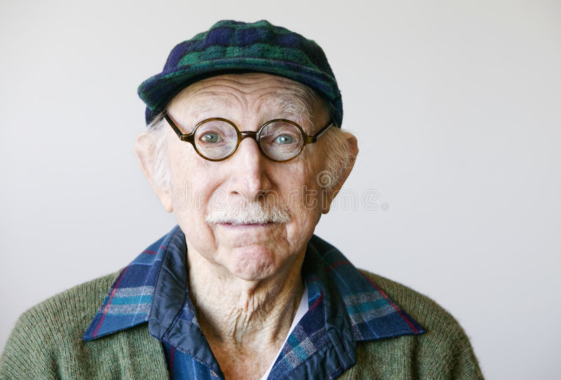 Download Senior Man In Glasses And A Sweater Royalty Free Stock Photo - Image: 4002345