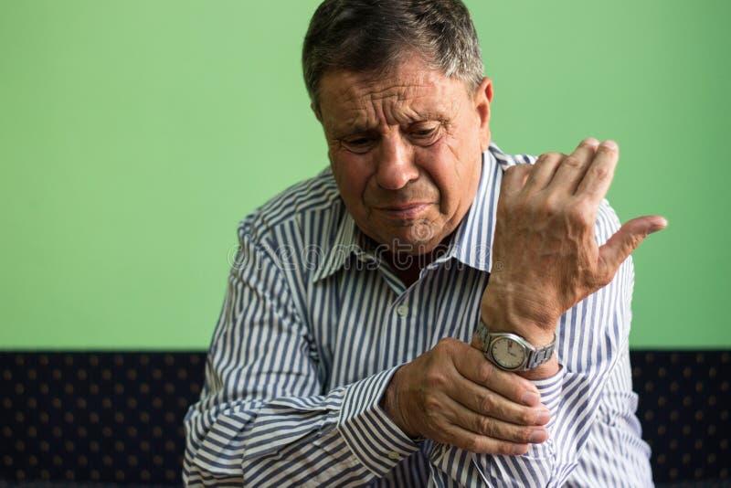 Wrist pain royalty free stock photos