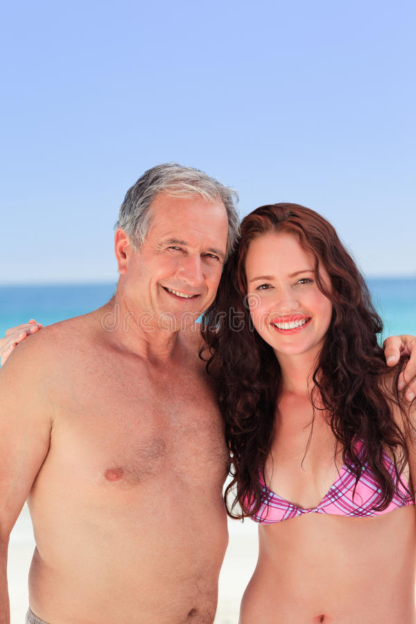 Download Senior Man With His Daughter Stock Photo - Image of happy, holding: 18494720