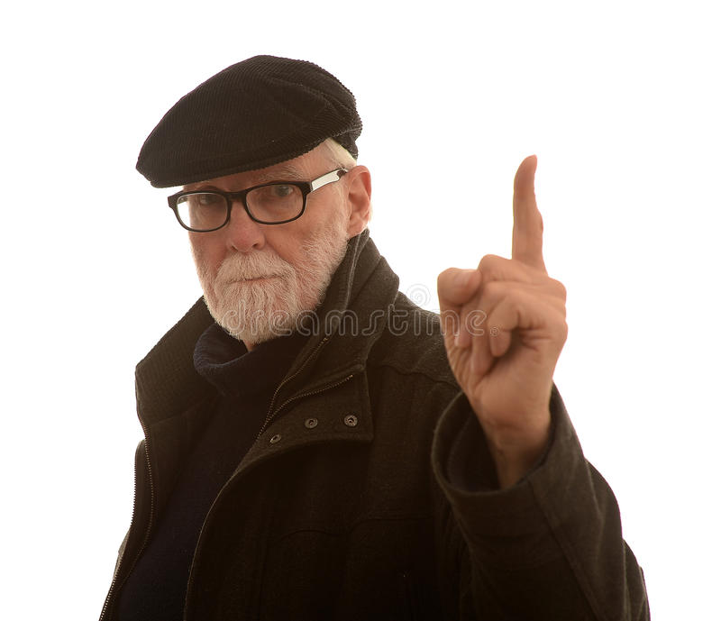 Senior man with an idea royalty free stock images