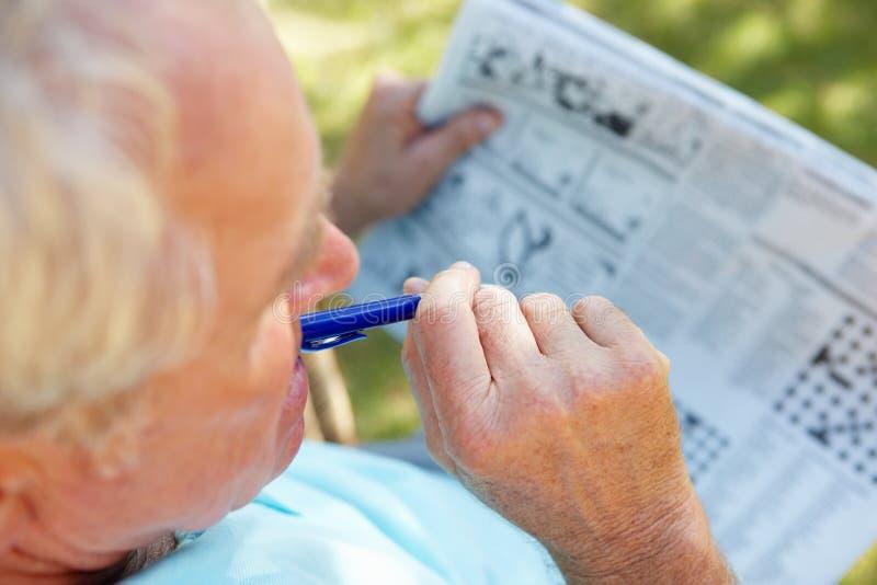Download Senior Man With Newspaper Stock Photos - Image: 19858183