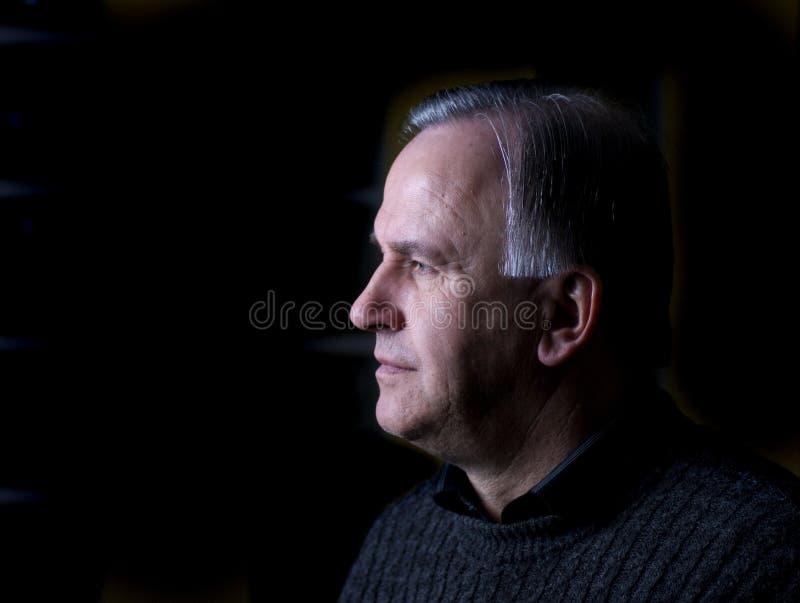 Senior man profile royalty free stock image