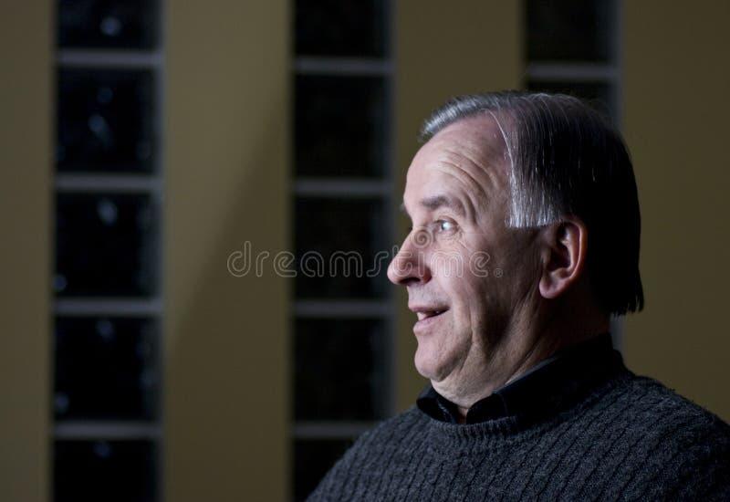 Senior Man Profile Royalty Free Stock Photography