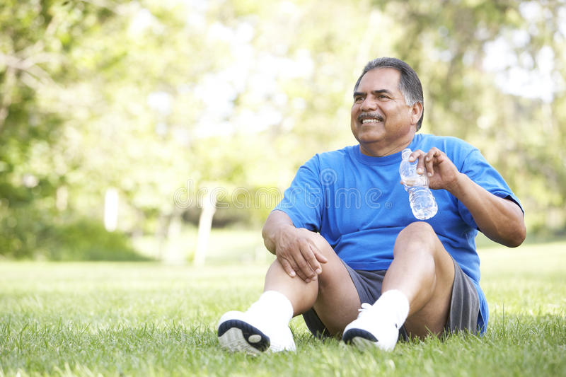 Download Senior Man Relaxing After Exercise Stock Photo - Image: 11503248