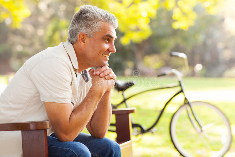 Senior man relaxing stock photos