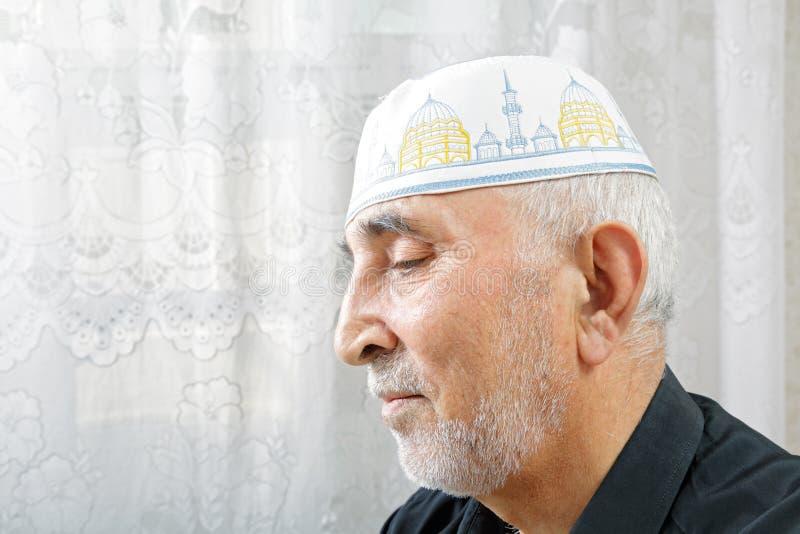 Download Senior Man In Religious Hat Stock Image - Image: 26989533