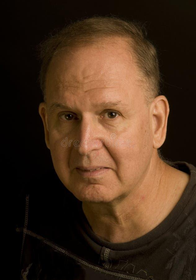 Download Senior Man Retired Head Shot Portrait In Tee Shirt Stock Image - Image: 10417461