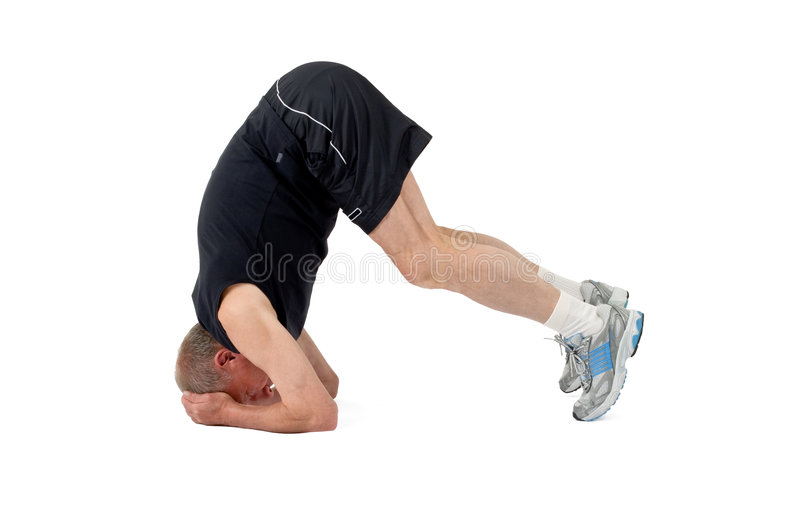 Download Senior Man. Stand On A Head Stock Photo - Image: 6729036