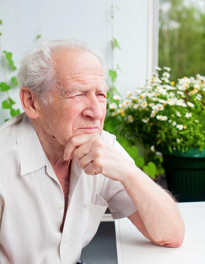 Senior Man Thinking royalty free stock photos