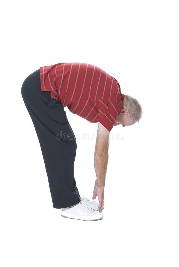 Download Senior man touching toes stock image. Image of strengthening - 8936029