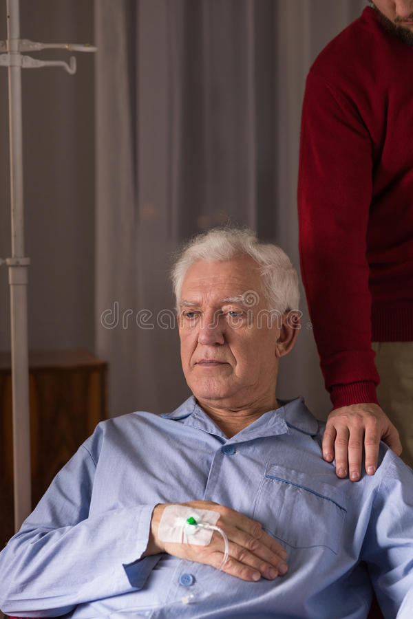 Free Senior Man With Incurable Disease Royalty Free Stock Photo - 66208105