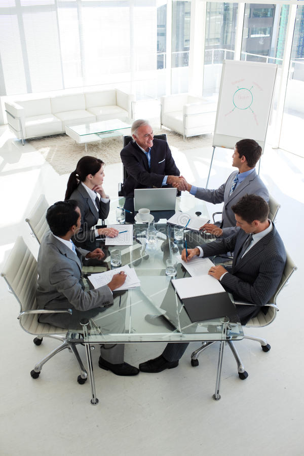 Download Senior Manager And Businessman Shaking Hand Royalty Free Stock Photos - Image: 12119848