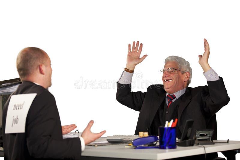 Senior Manager che rifiuta candidato fotografia stock libera da diritti