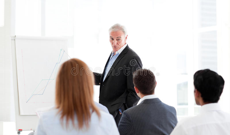 Download Senior Manager Giving A Presentation Royalty Free Stock Photos - Image: 12119318