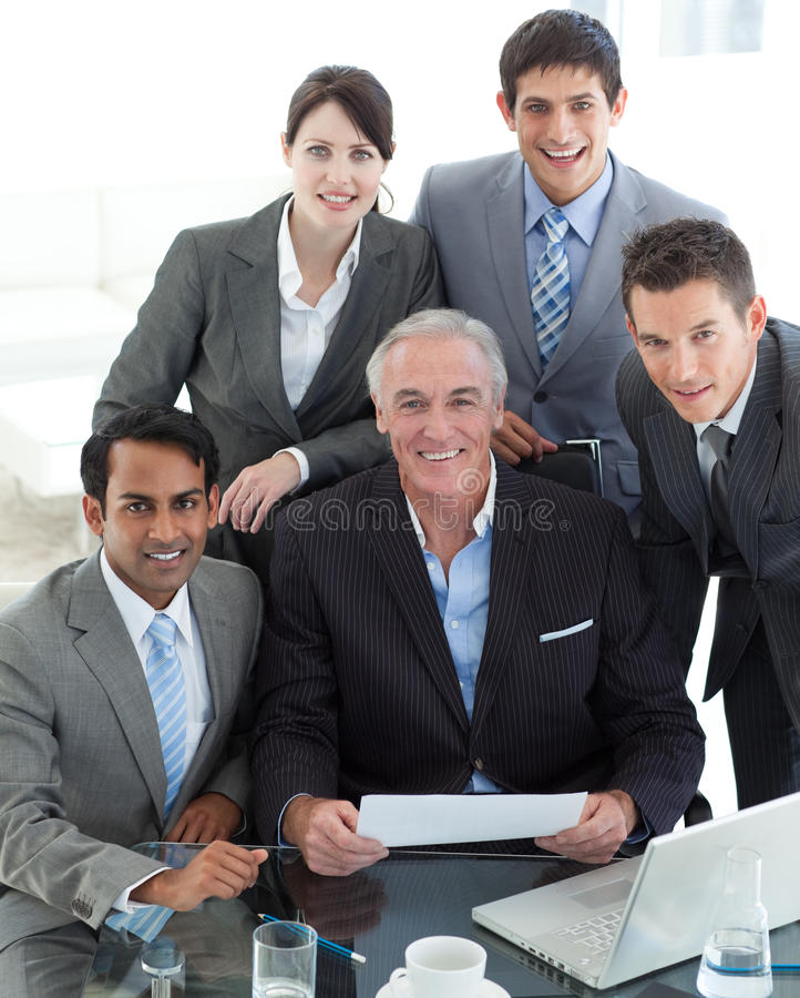 Senior Manager Holding A Paper Royalty Free Stock Image