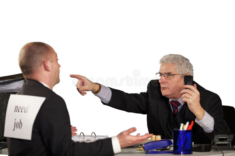 Download Senior Manager Rejecting Applicant Stock Photo - Image: 18186440