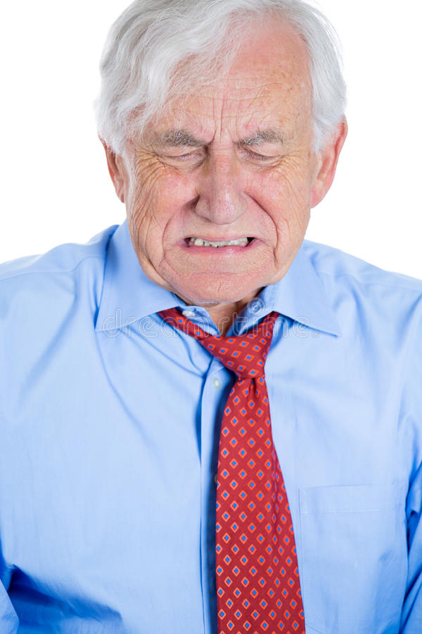 Download Senior Mature, Elderly Man Very Sad And Depressed And Almost To The Point Of Crying Stock Image - Image: 33333807